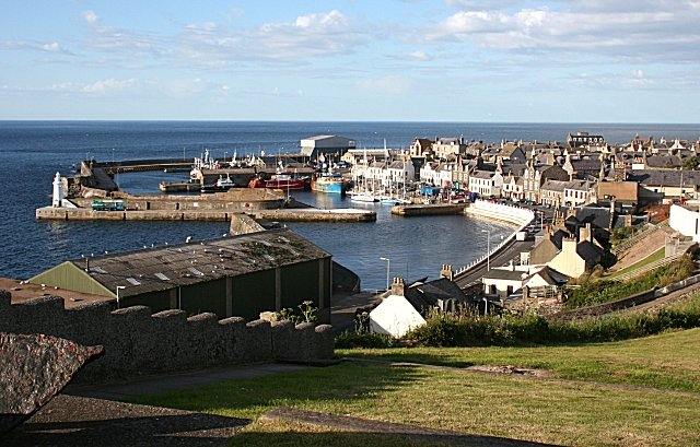 Macduff Harbour, Scotland. UK