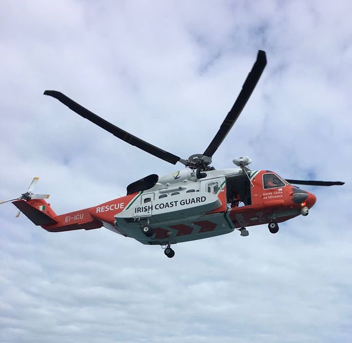 Irish Coast Guard Rescue 117 helicopter