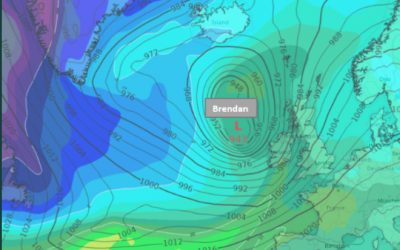 Status Red – Gale Warning Issued for Storm Brendan