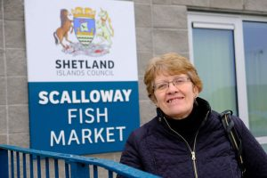 Andrea Manson, Chair of the Shetland Harbour Board