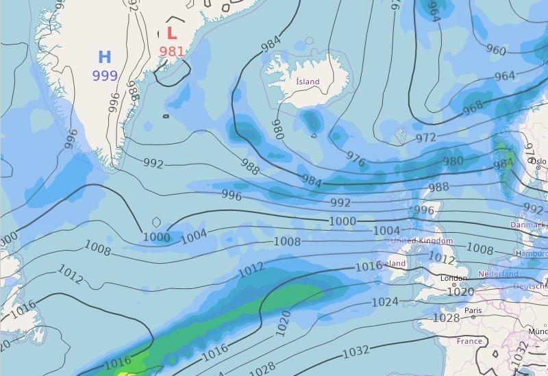 Atlantic weather map
