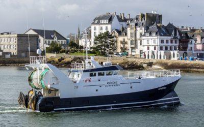 PIRIOU Shipyard's new build trawler destined for St Brieuc, Brittany