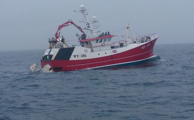trawler at sea