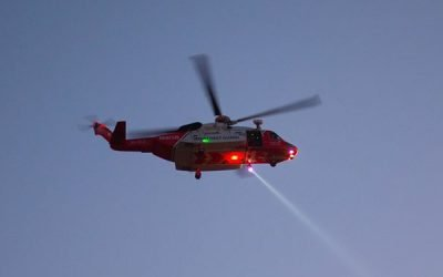 Rescue 115 called to medevac two injured crewmen of Dutch trawler