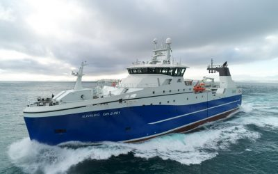 Brim hf takes delivery of new deep sea freezer-trawler 'Ilivileq' GR 2-201