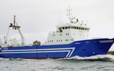 Brim hf freezer-trawler Örfirisey fishing well on Greenland Halibut
