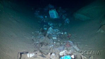 discarded plastic deep sea