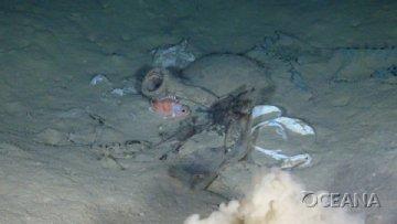 discarded plastic deep sea