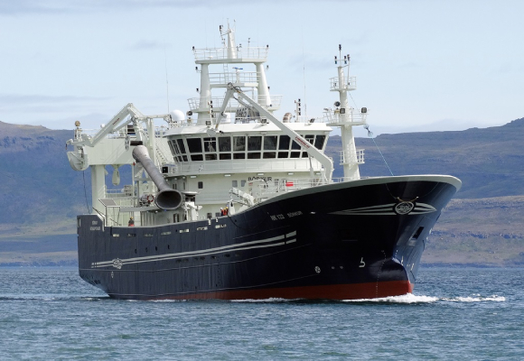 Síldarvinnslan Fishing Vessel Börkur NK reported a good mackerel season making the most landings. icelandic pelagic blue whiting
