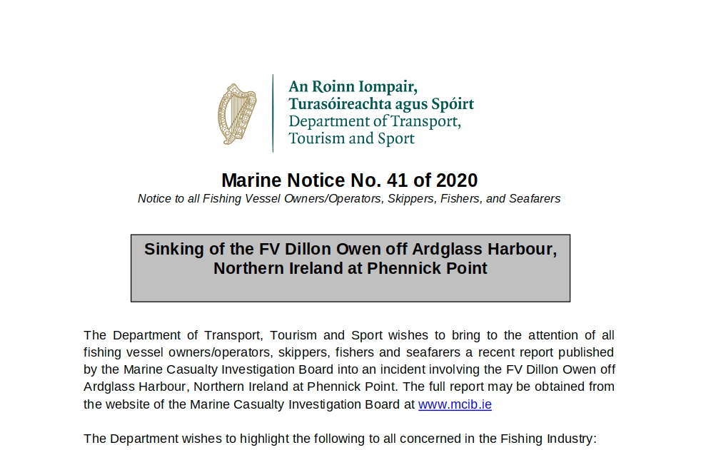 Marine Notice No 41 of 2020
