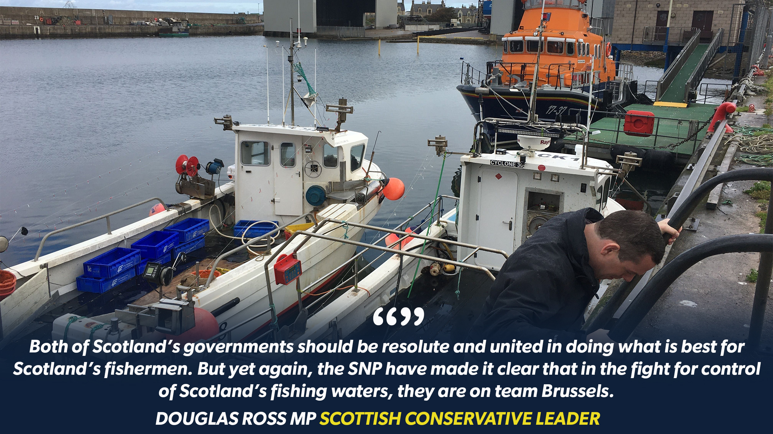 Scottish Conservative leader, Douglas Ross MP has accused the SNP of betraying the Scottish fishing industry by backing EU in Brexit talks