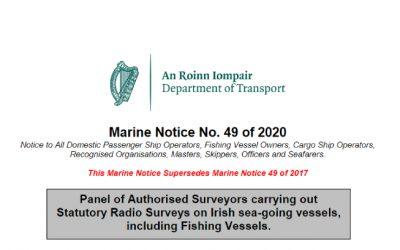Marine Notice No 49 of 2020 – Statutory Radio Surveys Panel