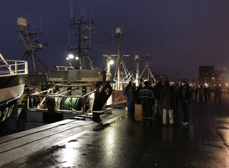 Danish fishers demonstration