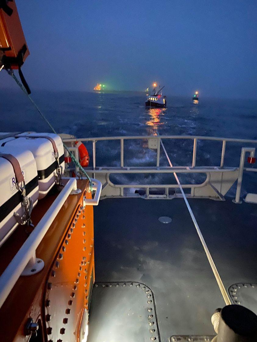 fishing vessel collision north tyneside