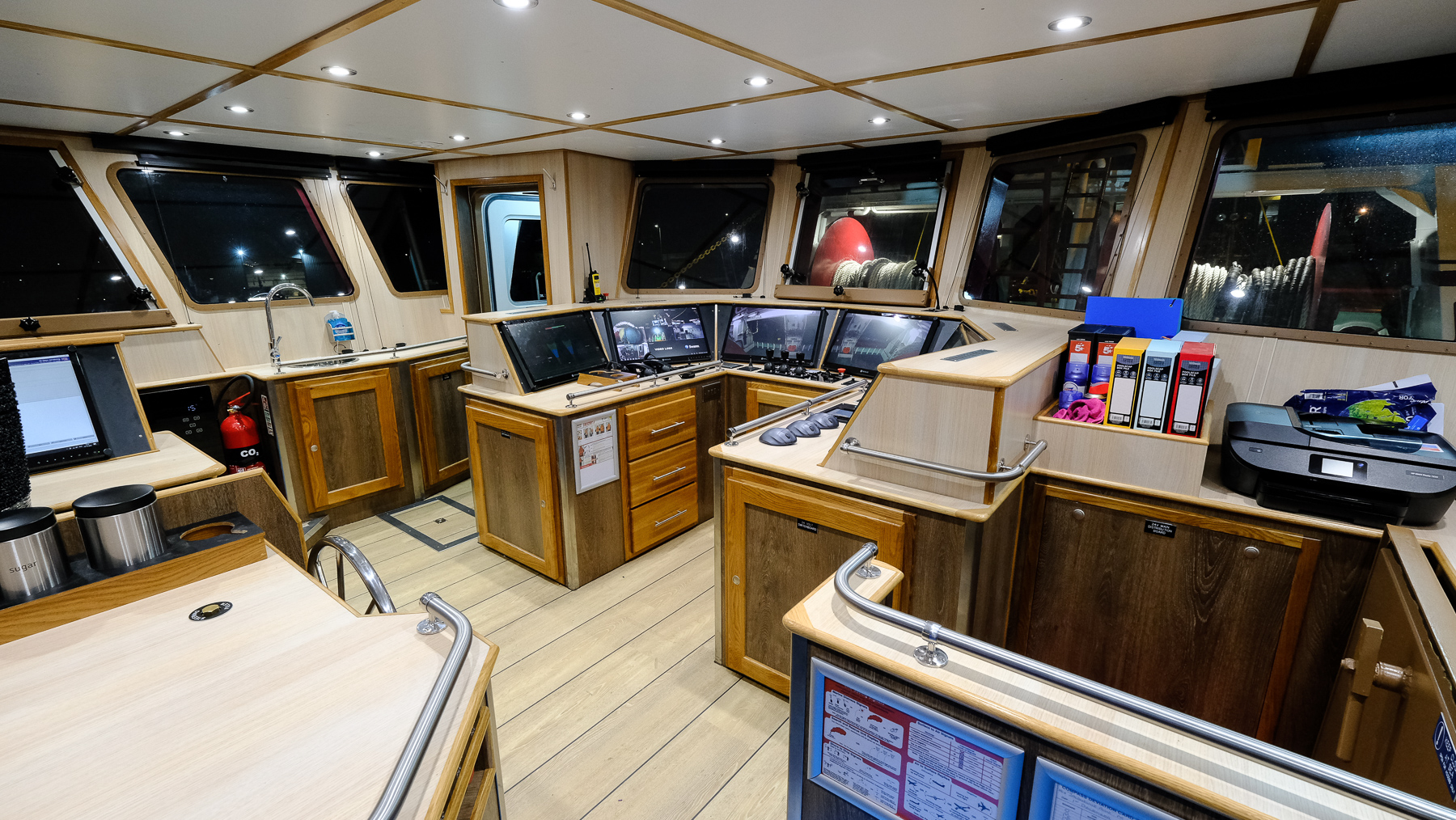 Aft view of the wheelhouse on the Jacqueline Anne. Photo: Macduff Shipyards