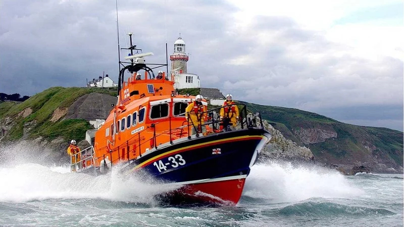 The Howth RNLI Lifeboat was launched to assist a fishing trawler in difficulty. Photo RNLI/Noel Davidson
