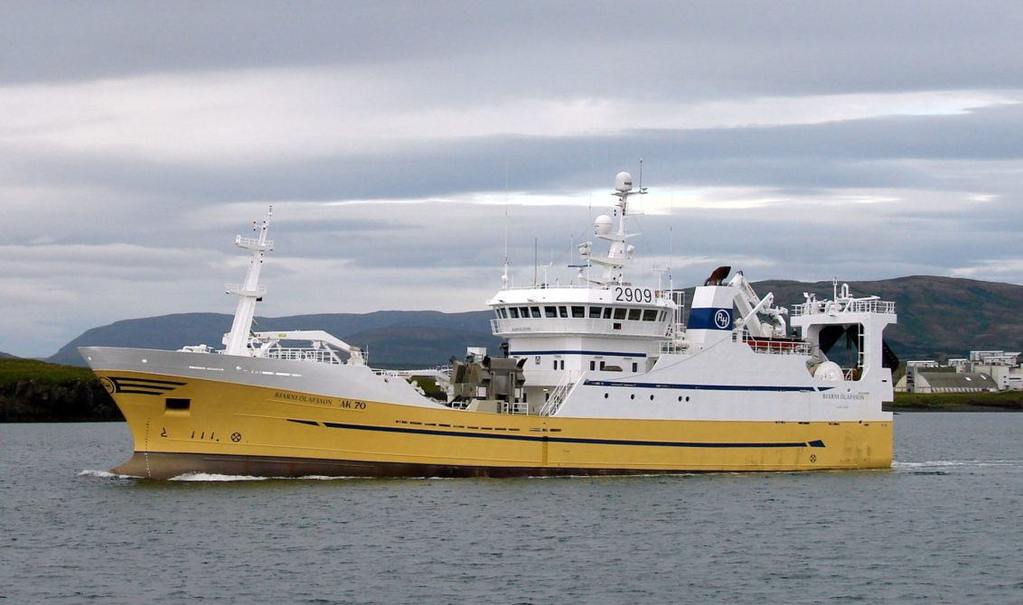 The Icelandic pelagic fleet have found good fishing on blue whiting south of the Faroe Islands and just north of the Scottish line