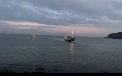 Howth RNLI called out after trawler runs aground in Balscadden Bay