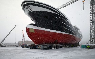 New pelagic trawler 'Ruth' HG 264 launched from Karstensen Shipyards