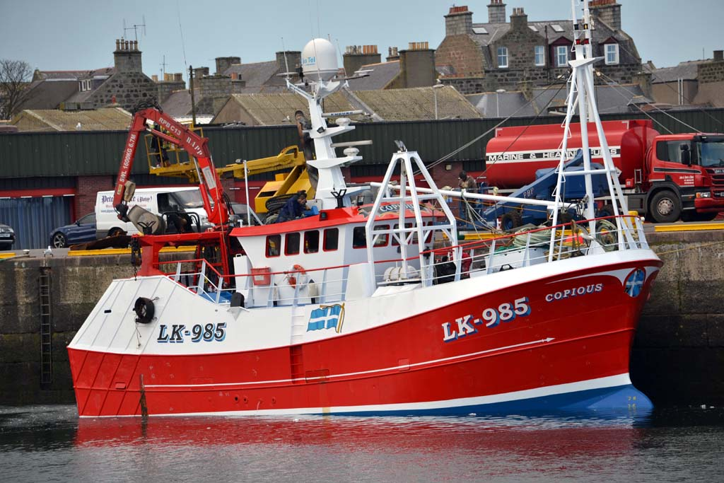 The fisherman who died after falling overboard from the Shetland trawler FV Copius has been named. Photo: @Trawlerphotos