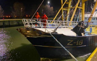 Belgian fishing vessel involved in collision with bulk tanker returns home safely