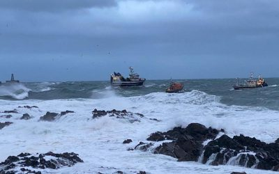 Locals unite in support of Peterhead RNLI after epic rescue saving five lives