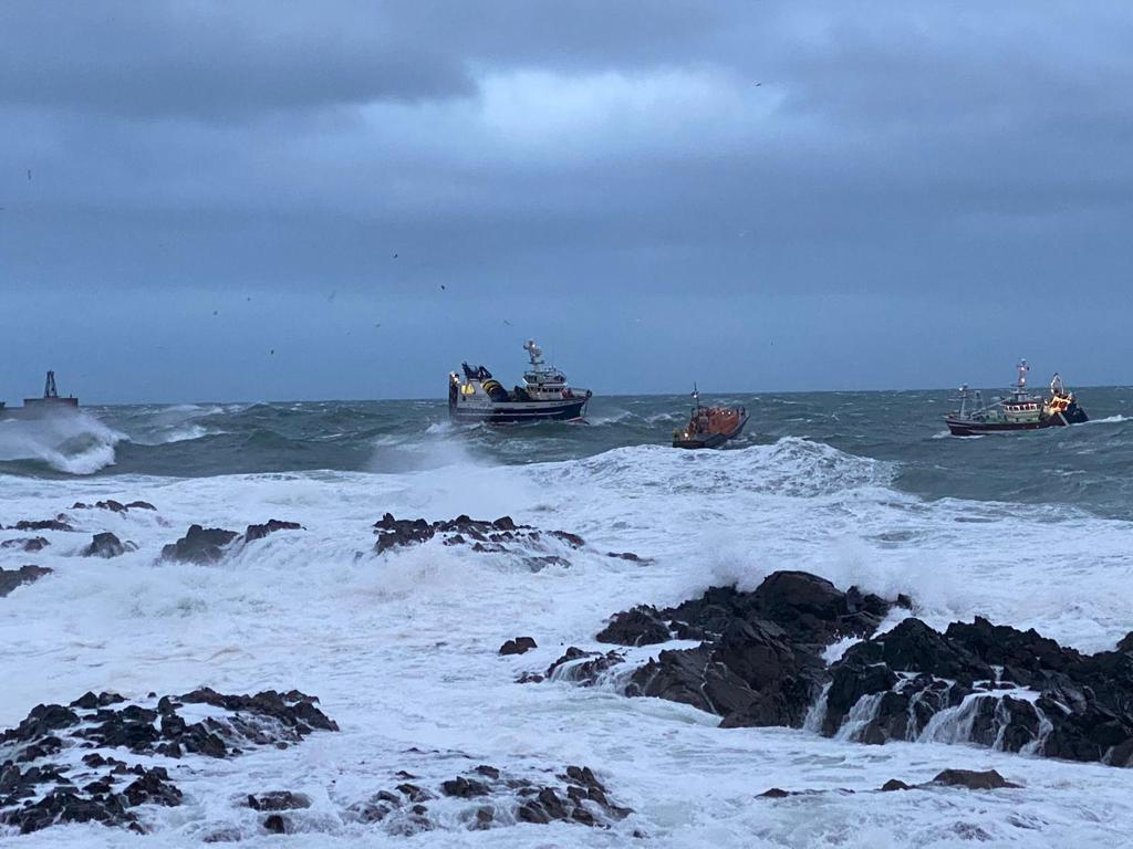 Locals of Peterhead unite in support of Peterhead RNLI after rescuing a fishing vessel seconds from disaster with five crew onboard