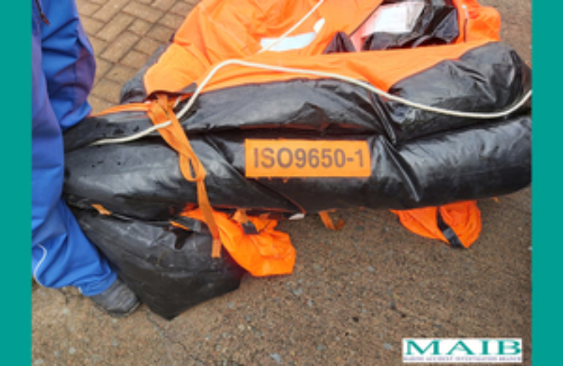 liferaft of the missing Conwy fishing vessel, the Nicola Faith.