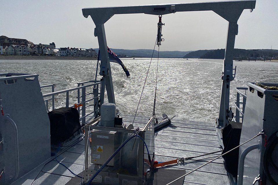 The search resumed today for the wreck of Nicola Faith aided by the Welsh Fisheries Patrol Vessel Rhodri Morgan