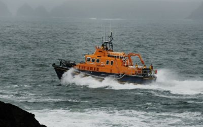 Ballyglass RNLI Lifeboat launched at night to aid fishing vessel off Erris Head