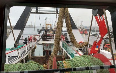 Ghost net retrieved by Beryl BF 440 crew amid gale force winds