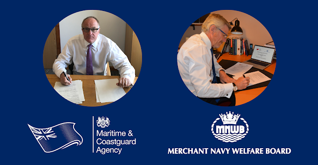 CEO Brian Johnson (left) signed the formal agreement on behalf of the MCA alongside MNWB Chairman Capt. Andrew Cassels (right)