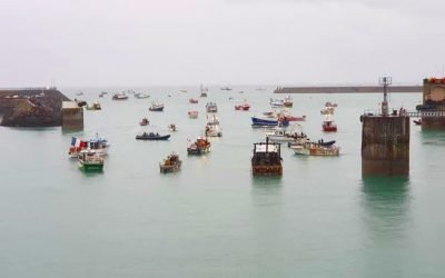 Jersey Government Officials meet with French Fishers amid Protest