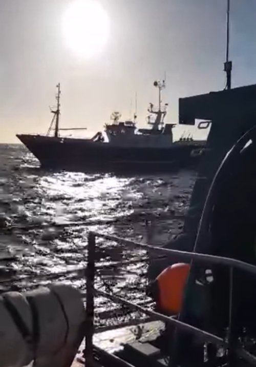 """The Spanish-registered longliner """"Punta Candieira"""" is still fishing despite committing a serious internaltional infringement in Irish waters"""