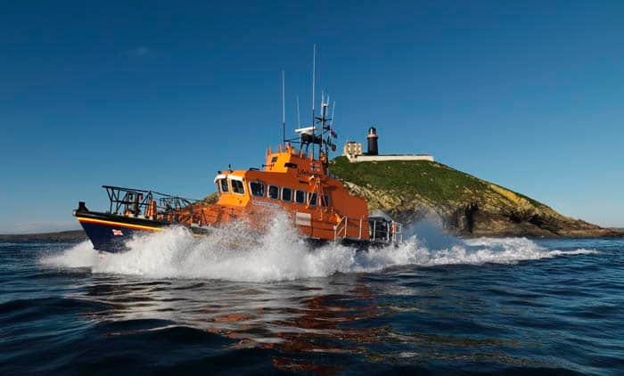 The Ballycotton RNLI lifeboat was called out yesterday morning by the Irish Coast Guard to aid a fishing vessel in difficulties. Photo: RNLI/Ballycotton