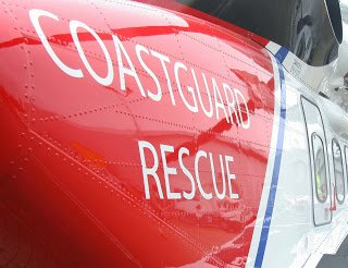 The HMCG helicopter from Stornoway was called to the scene of an overboard incident in the Sound of Rhum where a fisherman died