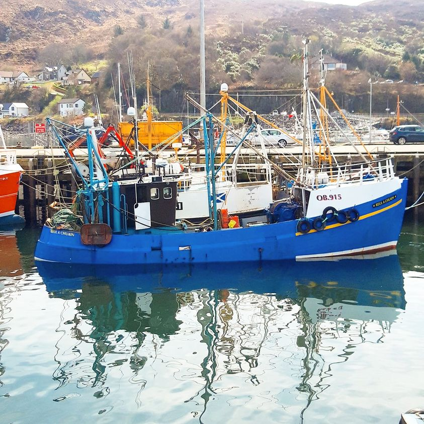 The late Mr Robertson has been named as the fisherman on the Reul a'Chuain when he fell overboard in the Sound of Rhum