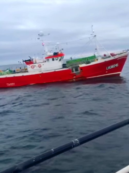 An incident north-west off the Butt of Lewis has led to calls for the UK Government to add conditions when licensing to EU fishing vessels