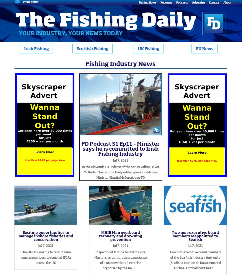fishing news daily advertising
