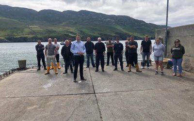 Minister McConalogue visits Leenan Pier, Urris 19th July 2021