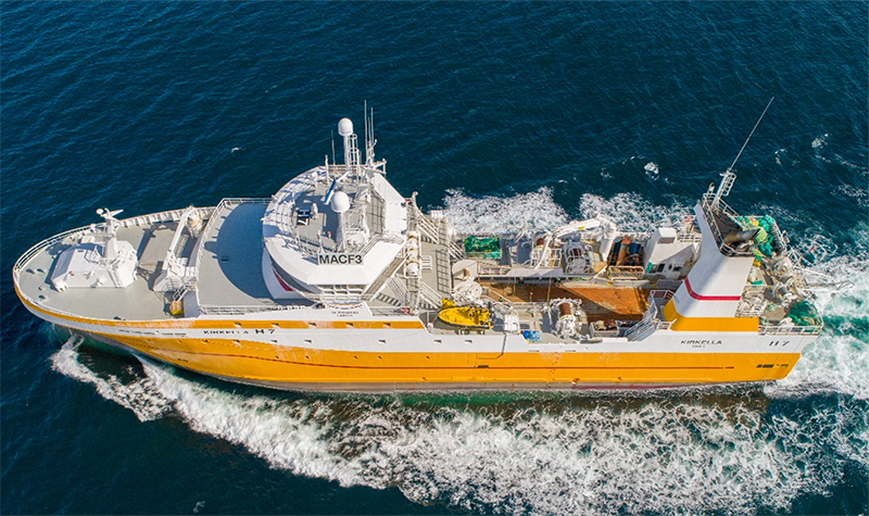 UK Fisheries Ltd says that their distant-water trawler Kirkella is fishing for scraps after British fleet has been shut out of Norwegian waters