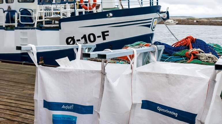 Norwegian fishing vessels no longer able to land marine litter without charges as the Environment Agency closes the scheme. Photo: Fishing for Litter 2017