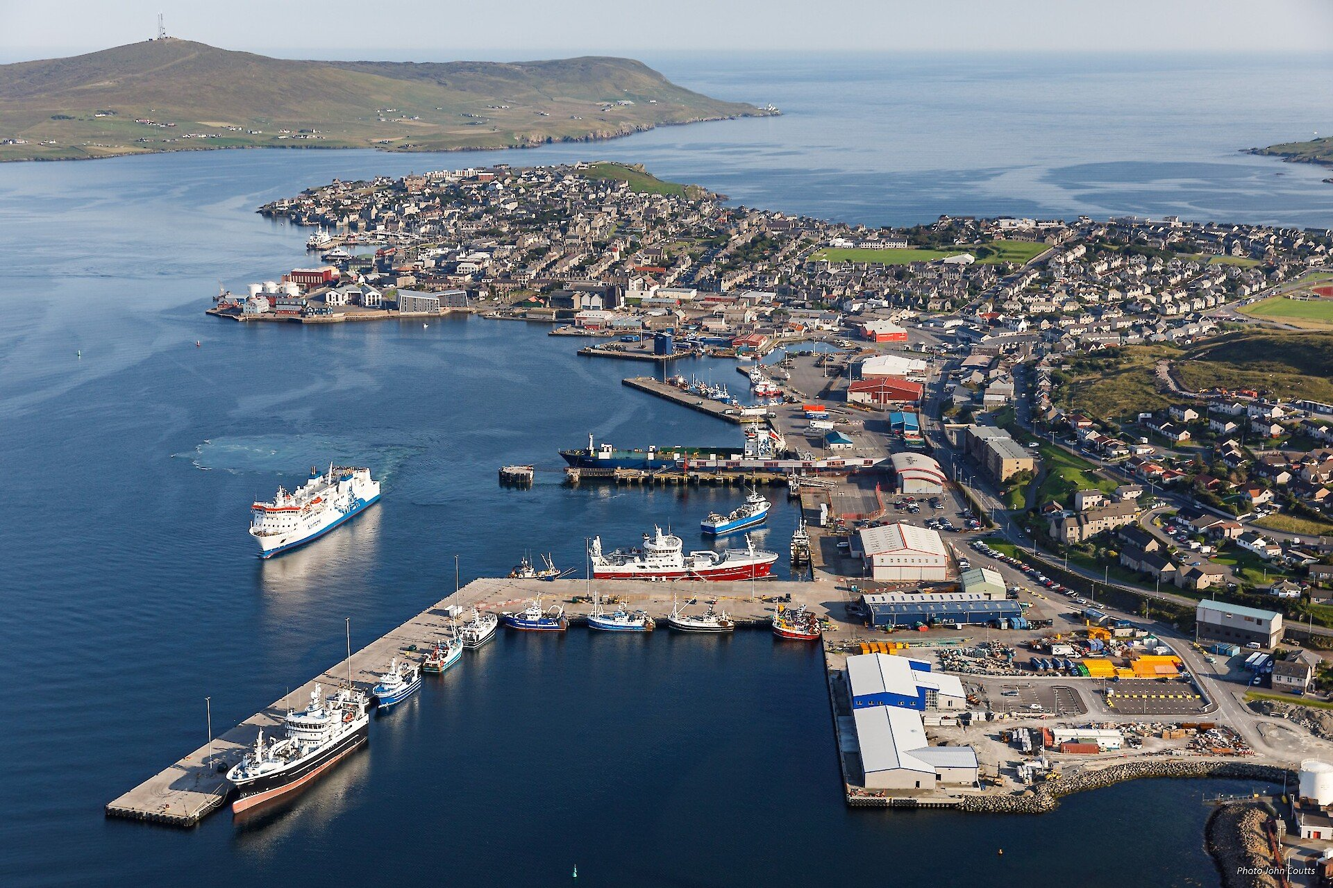 Prince Charles' Royal Visit to the Shetland Islands marked the official opening of the new fish markets at Lerwick and Scalloway harbours