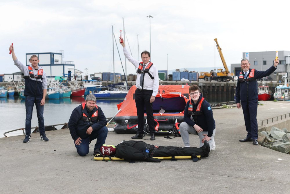 Minister McConalogue approves BIM's business case for new sea survival training unit in National Fisheries College in Greencastle