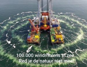 The Dutch fishing industry protested on 14 August at Afsluitdijk over growing impact of offshore wind farms on traditional fishing grounds. Image: NOS