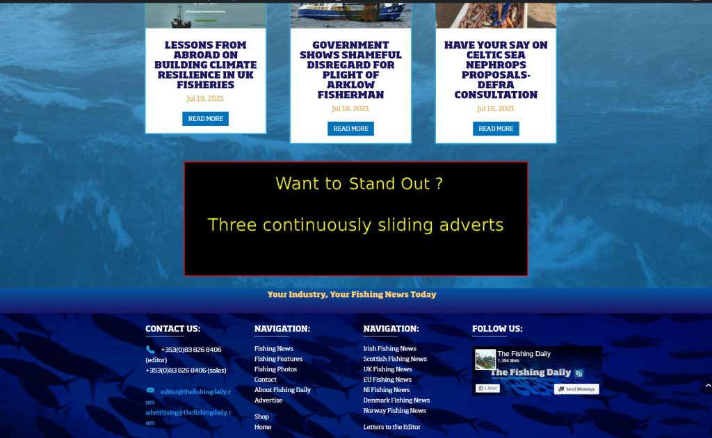 fishing daily advertising