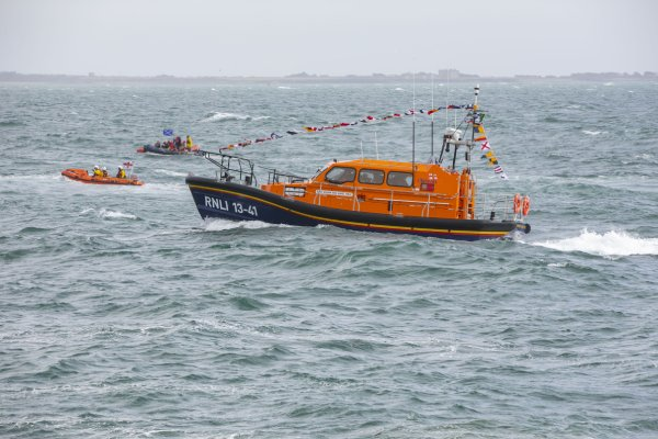 Dunmore East RNLI brought their €2.4 million Shannon-class lifeboat the 'William and Agnes Wray' to its new home in Waterford