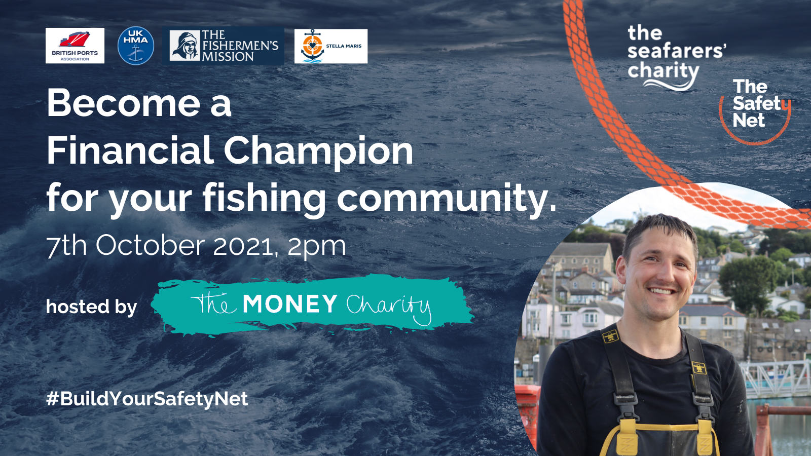 The Seafarers' Charity to train 'financial champions' to strengthen the financial resilience of fiishing communities around the UK