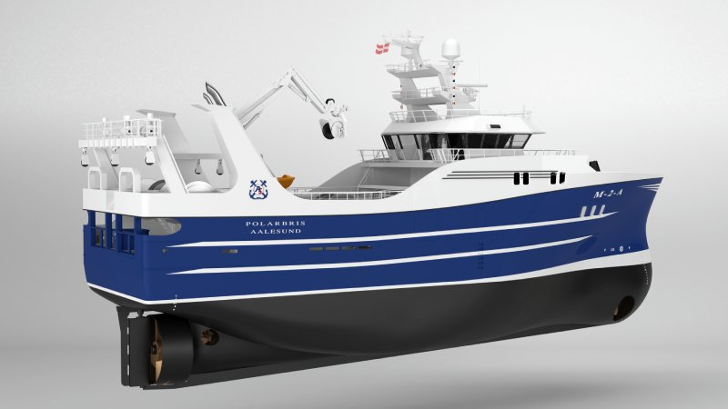 The new flyshooter/seinenetter netter Polarbris to be designed and built by Karstensens Shipyard