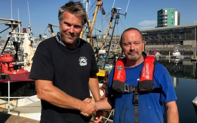 Fisherman issues stark warning after overboard brush with death